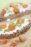 Casse-croûte de fromage blanc Photographie stock libre de droits