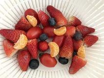 Casse-croûte de fruit d'après-midi photographie stock libre de droits