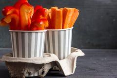 Casse-croûte de légumes frais Image stock