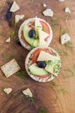 Casse-croûte de pain complet images libres de droits