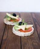 Casse-croûte de pain complet photos libres de droits