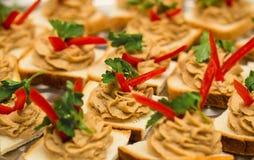 Casse-croûte de sandwich à pâte photos stock
