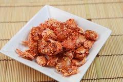 Casse-croûte du crabe Photos libres de droits