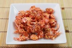 Casse-croûte du crabe Photographie stock libre de droits