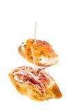 Casse-croûte espagnol de jambon Images stock