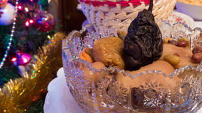 Casse-croûte fumé sec de Noël de fruits Image stock