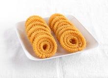 Casse-croûte indien Chakli Photo stock