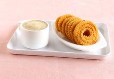 Casse-croûte indien Chakli Images stock