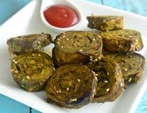 Casse-croûte Patra de Gujarati Images stock