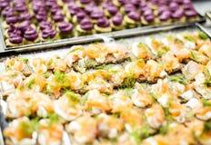 Casse-croûte saumonés Photo libre de droits