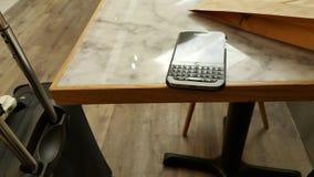 Casse-croûte, voyage avec Blackberry Photographie stock libre de droits