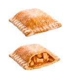 Casse-croûte de tarte aux pommes d'isolement sur le blanc Images libres de droits