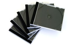 Casse del compact disc Fotografie Stock Libere da Diritti