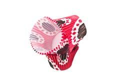 Casse del dolce della carta colorata Fluted immagini stock