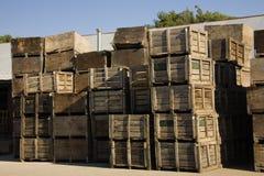 Casse dell'imballaggio della frutta Fotografie Stock Libere da Diritti