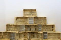 Casse di legno Fotografia Stock Libera da Diritti