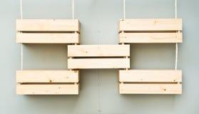 Casse di legno Immagine Stock Libera da Diritti