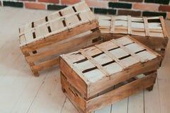 Casse di legno Fotografia Stock