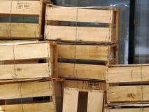 Casse di legno di trasporto Fotografia Stock Libera da Diritti