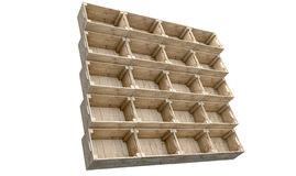 Casse di legno impilate Immagini Stock Libere da Diritti