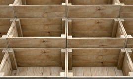 Casse di legno impilate Immagine Stock