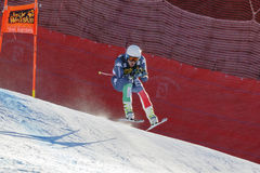 Casse Mattia in Audi FIS Alpien Ski World Cup - R van Mensen bergaf Royalty-vrije Stock Fotografie