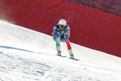 Casse Mattia in Audi FIS Alpien Ski World Cup - R van Mensen bergaf Stock Fotografie
