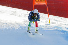 Casse Mattia in Audi FIS Alpien Ski World Cup - R van Mensen bergaf Stock Foto's