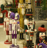 Casse-noix de décoration de Noël Image stock