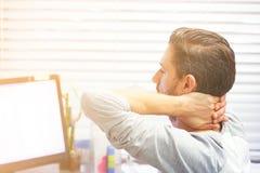 Casse-pieds d'hommes de fatigue Cou fatigu? image libre de droits