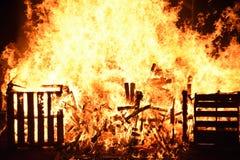 Casse su fuoco Fotografia Stock