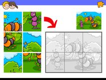 Casse-tête avec les caractères drôles d'insecte illustration libre de droits