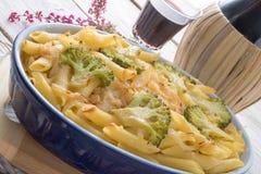 Casserole ζυμαρικών με τα λαχανικά Στοκ Εικόνα