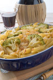 Casserole ζυμαρικών με τα λαχανικά Στοκ εικόνα με δικαίωμα ελεύθερης χρήσης