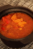 Casserole κοτόπουλου με μια σάλτσα πάπρικας και ντοματών Στοκ Εικόνες