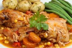casserole λαχανικά κοτόπουλου Στοκ φωτογραφία με δικαίωμα ελεύθερης χρήσης