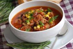 casserole λουκάνικο Στοκ Εικόνες