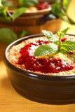 casserole μήλων ρύζι Στοκ φωτογραφία με δικαίωμα ελεύθερης χρήσης