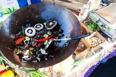 Casserole με τα οργανικά λαχανικά Στοκ Φωτογραφίες