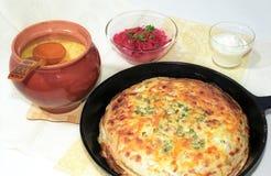 casserole σούπα τηγανιτών Στοκ εικόνα με δικαίωμα ελεύθερης χρήσης