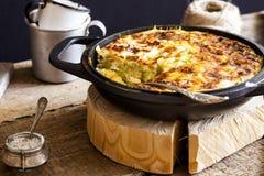 Casserole του ρυζιού, των λαχανικών και των κολοκυθιών Στοκ Εικόνα