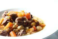 Casserole. Photograph of beef casserole in a dish royalty free stock image