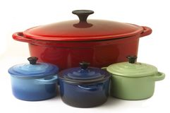 With the casserole Stock Photography