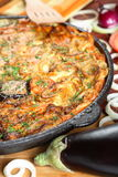Casserole with aubergine Stock Photo