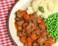 Casserole Beef Stew with Vegetables Stock Image