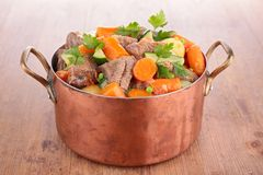 Casserole with beef and vegetables Stock Photos