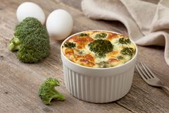 Casserole of broccoli Royalty Free Stock Image