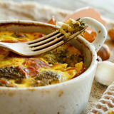 Casserole with broccoli Royalty Free Stock Image