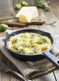 Casserole with brussels sprouts Royalty Free Stock Photography