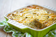 Casserole with cabbage and zucchini Royalty Free Stock Photos